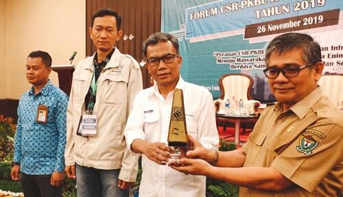 PTBA Terbaik I Dalam Forum CSR-PKBL Kabupaten Muara Enim 2019