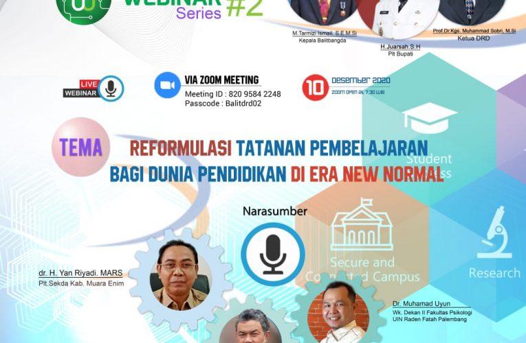 Plt. Sekda  Dan Jajaran Ikuti Webinar Reformulasi Tatanan Pembelajaran Pendidikan Di Era New Normal