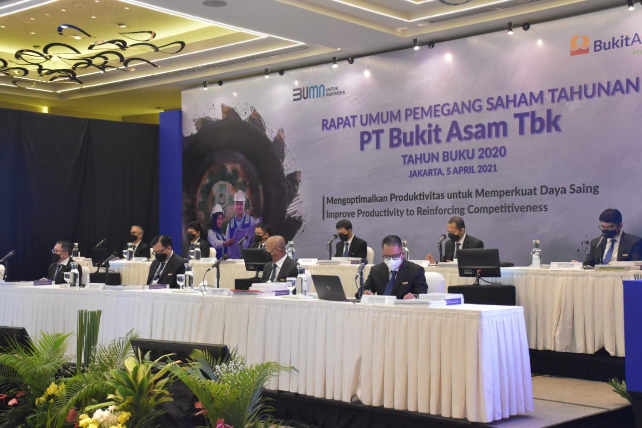 RUPST PTBA Kenalkan Jajaran Direksi Baru